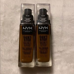 NYX can't stop full coverage foundation walnut